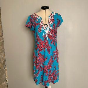 Lilly Pulitzer Brewster RI Reef Shore Dress, Sz M